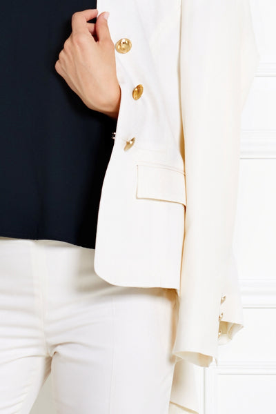 OFF WHITE TAILORED MERINO WOOL JACKET - IvanaRosova