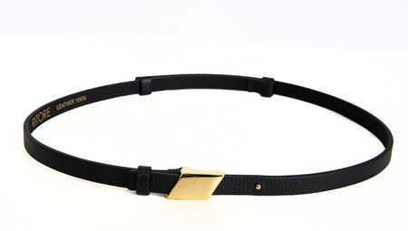 LILLY BLACK LEATHER BELT