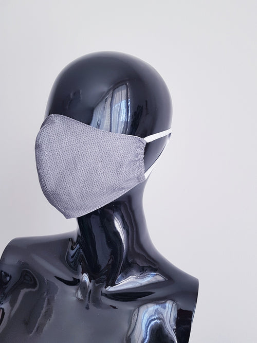 Ivana Rosova - textile face mask - grey