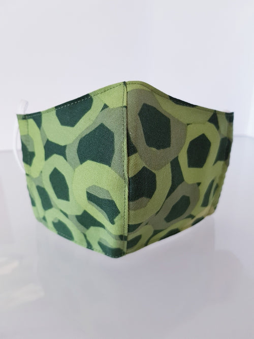 Ivana Rosova - textile face mask - children - green camouflage