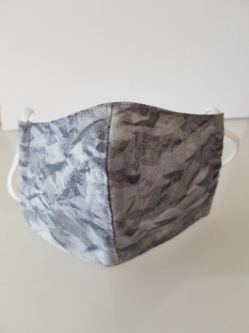 Ivana Rosova - textile face mask - children - grey marble