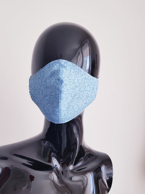 Ivana Rosova - textile face mask - light blue