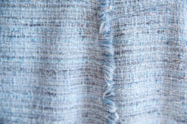 LIGHT BLUE BOUCLÉ TWEED SKIRT - IvanaRosova