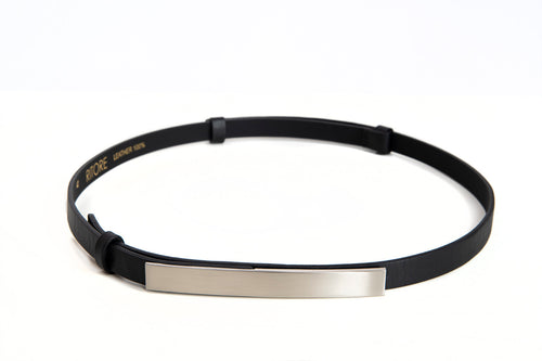 LILLY BLACK LEATHER BELT - IvanaRosova