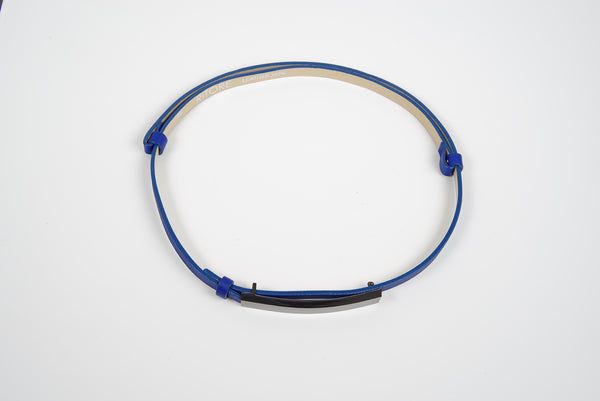 LILLY ROYAL BLUE LEATHER BELT - IvanaRosova