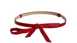 MEGHAN RED LEATHER BELT - IvanaRosova