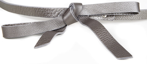 MEGHAN METALLIC LEATHER BELT - IvanaRosova