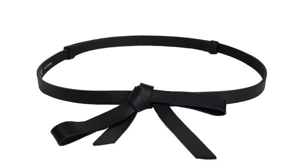 MEGHAN BLACK LEATHER BELT - IvanaRosova
