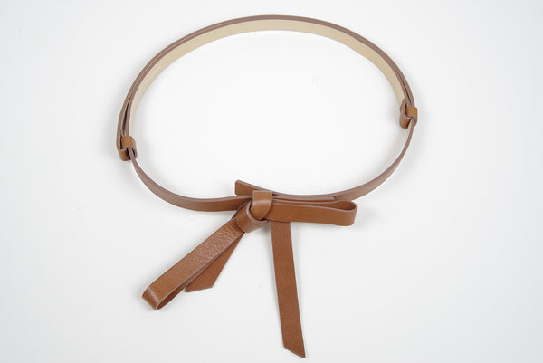 MEGHAN BROWN LEATHER BELT - IvanaRosova