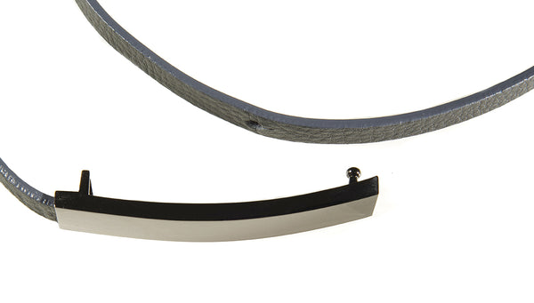 AMY GREY LEATHER BELT