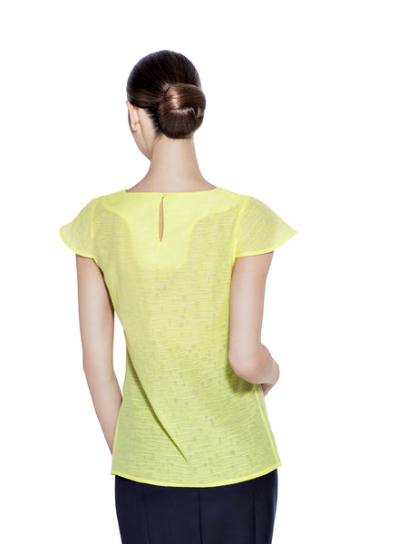 SILK & COTTON YELLOW BLOUSE - IvanaRosova