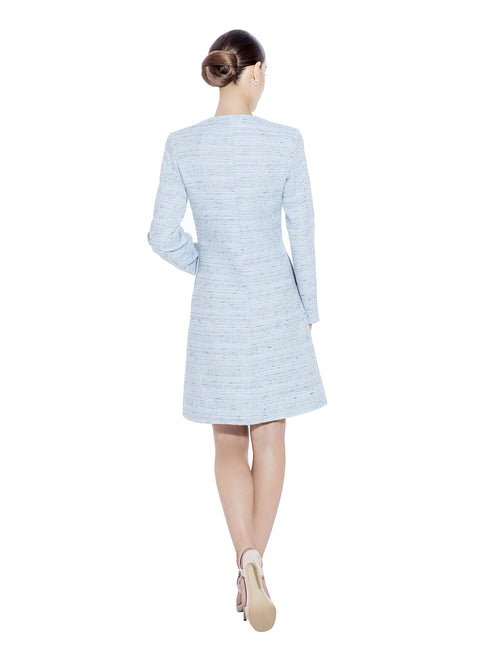LIGHT BLUE BOUCLE COAT - IvanaRosova
