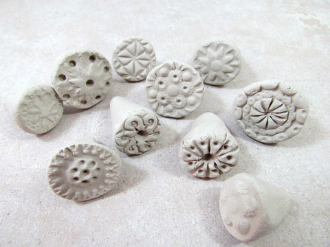 handmade ceramic stamps