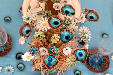 ceramic flowers decoration
