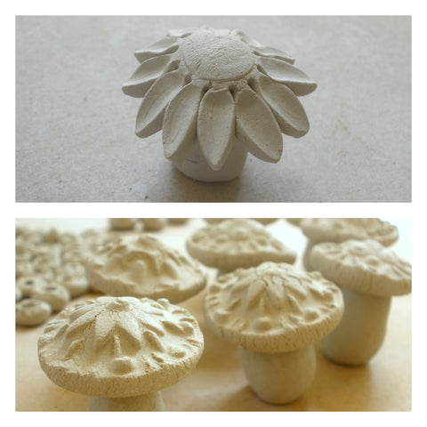 handmade ceramic mushrooms