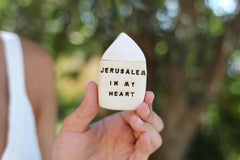 Jerusalem in my heart miniature house Israel gifts - Ceramics By Orly  - 2
