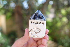 Shalom miniature house Israel gifts - Ceramics By Orly  - 3
