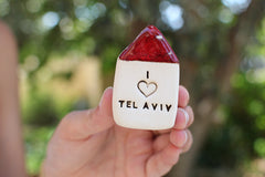 I love Tel Aviv miniature house Israel gifts - Ceramics By Orly  - 2