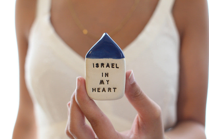 Israel in my heart miniature house - Ceramics By Orly  - 1