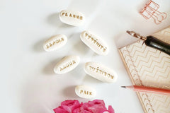 French pocket stones French positive words