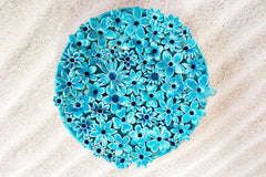 turquoise decorative plates