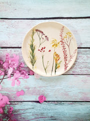 stamped flowers dish