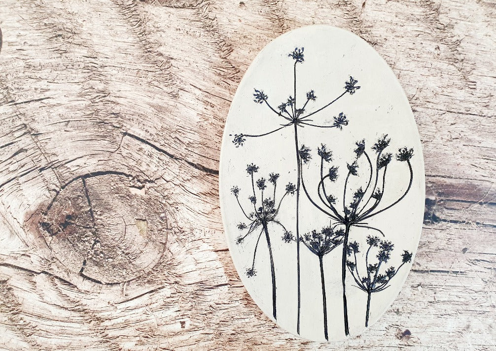 Decorative plate nature inspired