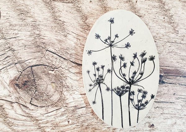 Decorative plate Botanical decor Housewarming gift