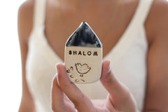 Shalom miniature house Israel gifts - Ceramics By Orly  - 2