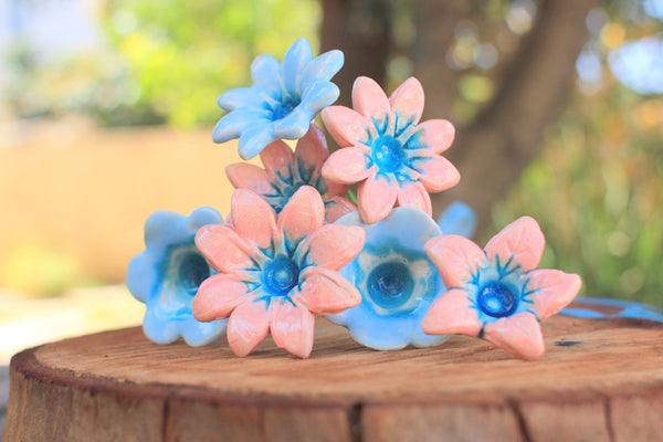 Housewarming gift Ceramic flowers
