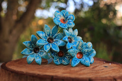 Colorful flowers Ceramic flowers
