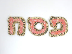 Designed Hebrew letters in a color of your choice - Ceramics By Orly  - 6