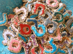 Designed Hebrew letters in a color of your choice - Ceramics By Orly  - 4