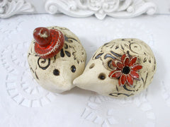 Hedgehogs wedding cake topper - Ceramics By Orly  - 3