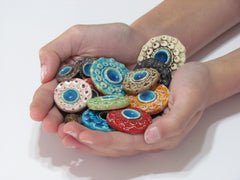 Colorful ceramic cabochons - Ceramics By Orly  - 3