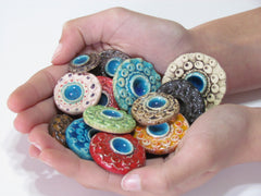 Colorful ceramic cabochons - Ceramics By Orly  - 5