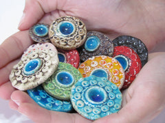 Colorful ceramic cabochons - Ceramics By Orly  - 4