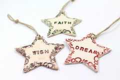 Star ornaments for Christmas