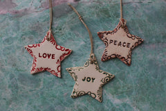 Star ornaments for Christmas tree