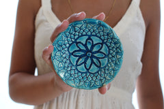 Ceramic turquoise bowl Housewarming gift - Ceramics By Orly  - 7