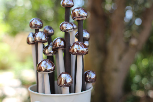 Ceramic mushrooms Garden decor Home decoration Holidays decoration