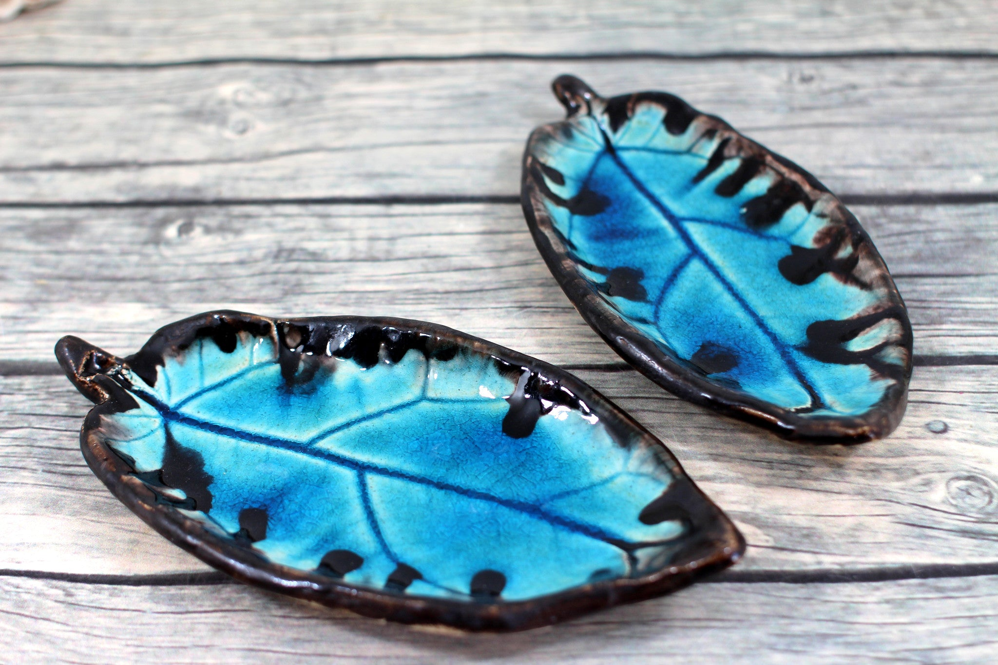 Ceramic Leaves Home decor Soap dish Jewelry holder - Ceramics By Orly  - 1