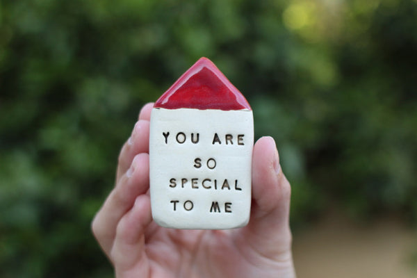 You are so special to me Inspirational quote Motivational quotes Personal gift Miniature house