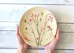 Real flowers plate