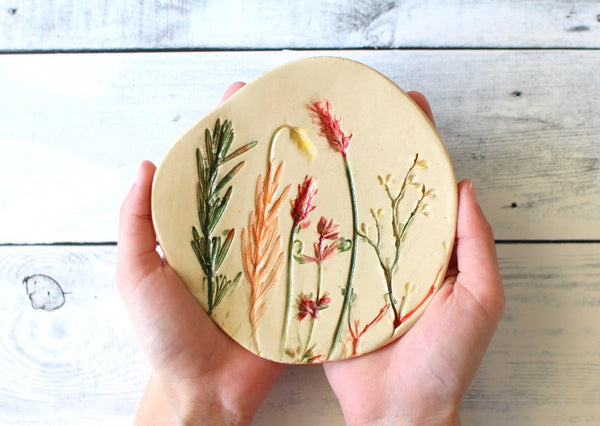Handmade botanical bowl