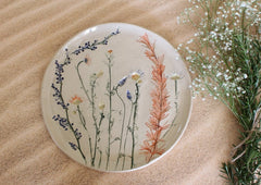 handmade floral plate