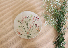 botanical ceramic plates