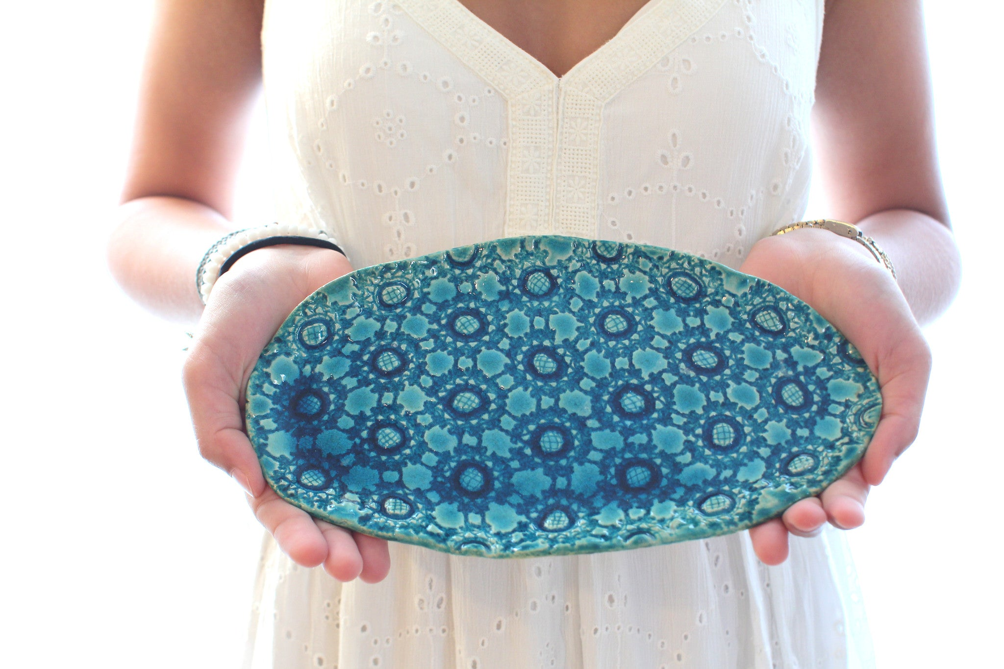 Small Ceramic platter Housewarming gift Holiday gift - Ceramics By Orly  - 1