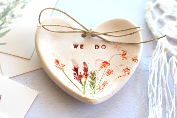 Botanical Wedding ring dish We Do