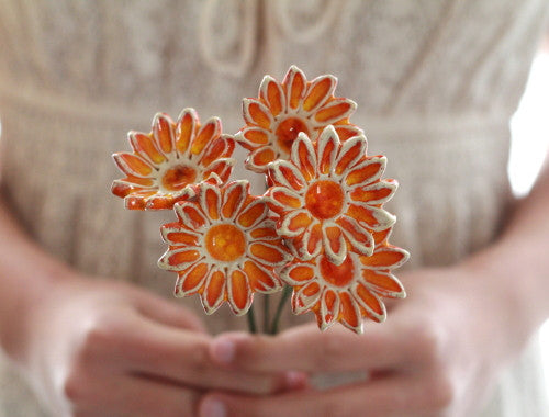 Wedding bouquet Orange flowers